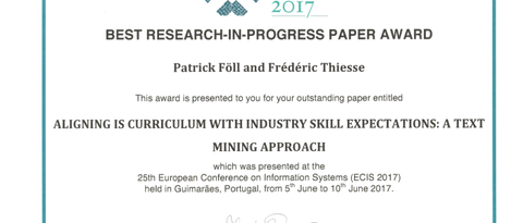 Best Research-in Progress-Paper Award ECIS 2017